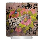 Song Of My Heart And Soul Shower Curtain by Meldra Driscoll