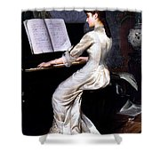 Song Without Words, Piano Player, 1880 Shower Curtain