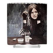 Sonja In Grisaille Shower Curtain