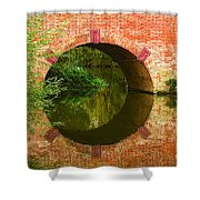 Sonning Bridge On The River Thames Shower Curtain