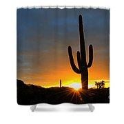 Sonoran Desert Sunrise 4 Shower Curtain