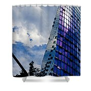 Sony Center In Downtown Berlin Shower Curtain