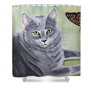 Soot Shower Curtain