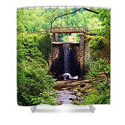 Soothing Cascade Shower Curtain
