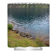 Soothing Lake Crescent Shower Curtain