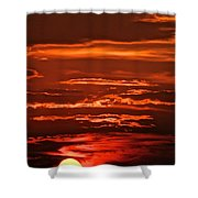 Soothing Saturday Sunset Shower Curtain