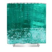 Soothing Sea - Abstract Painting Shower Curtain