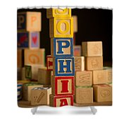 Sophia - Alphabet Blocks Shower Curtain