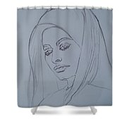 Sophia Loren In Headdress Shower Curtain