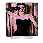 Sophia Loren - Purple Pop Art Shower Curtain