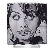 Sophia Loren Telephones Shower Curtain