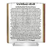 Sophistcated Medieval Style Desiderata Shower Curtain