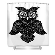 Sophisticated Owls 1 Of 4 Shower Curtain