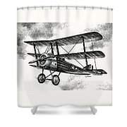 Sopwith Triplane 1917 Shower Curtain