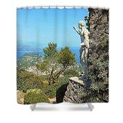 Sorrento Peninsula From Mt Solaro Capri  Shower Curtain