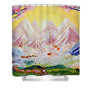 Sorrows All Disappear Shower Curtain