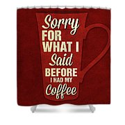 Sorry For What I Said IIi Shower Curtain