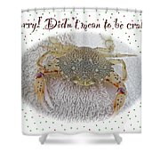 Sorry I Was Crabby Greeting Card - Calico Crab Shower Curtain