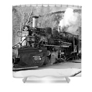 Sothbound Through Rockwood Black And White Shower Curtain