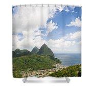 Soufriere St. Lucia Shower Curtain