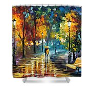 Soul Of The Rain - Palette Knife Oil Painting On Canvas By Leonid Afremov Shower Curtain