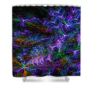 Souls Connectivity Abstract Shower Curtain