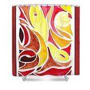 Sounds Of Color Doodle 2 Shower Curtain