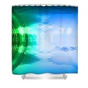 Soundwaves 2 Shower Curtain