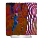 Soundwaves Shower Curtain