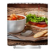 Soup And Sandwich Shower Curtain