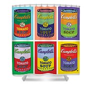 Soup Cans Shower Curtain