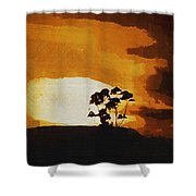South African Sky Shower Curtain