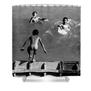 South American Rivers Shower Curtain