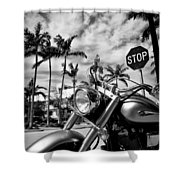 South Beach Cruiser Shower Curtain