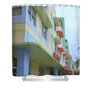 South Beach Facades Shower Curtain