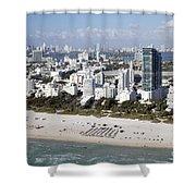 South Beach Florida Shower Curtain