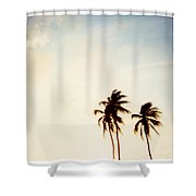 South Beach Miami Shower Curtain