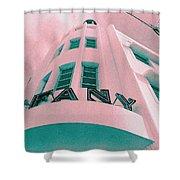 South Beach Miami Tiffany Hotel Tropical Art Deco Shower Curtain