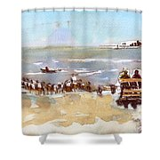 South Bench Lbi Shower Curtain