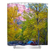 South Campground In Zion Np-ut Shower Curtain