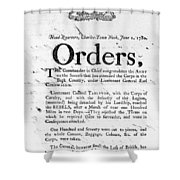 South Carolina, 1780 Shower Curtain