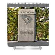South Carolina At Gettysburg - Close 1 Shower Curtain