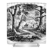 South Carolina Battlefield Shower Curtain