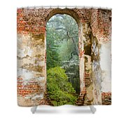South Carolina Historic Church Photo Sheldon Ruins-- Another View From The Inside Shower Curtain