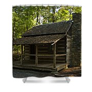 South Carolina Log Cabin Shower Curtain