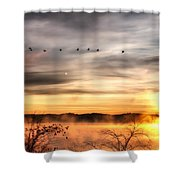 South Carolina Morning Shower Curtain