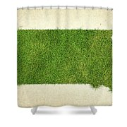 South Dakota Grass Map Shower Curtain by Aged Pixel