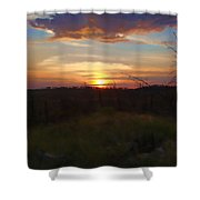 South Dakota Sunset 2 Shower Curtain