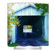 South Denmark Rd. Covered Bridge Shower Curtain