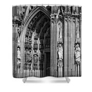South Entrance Detail Cologne Cathedral Shower Curtain